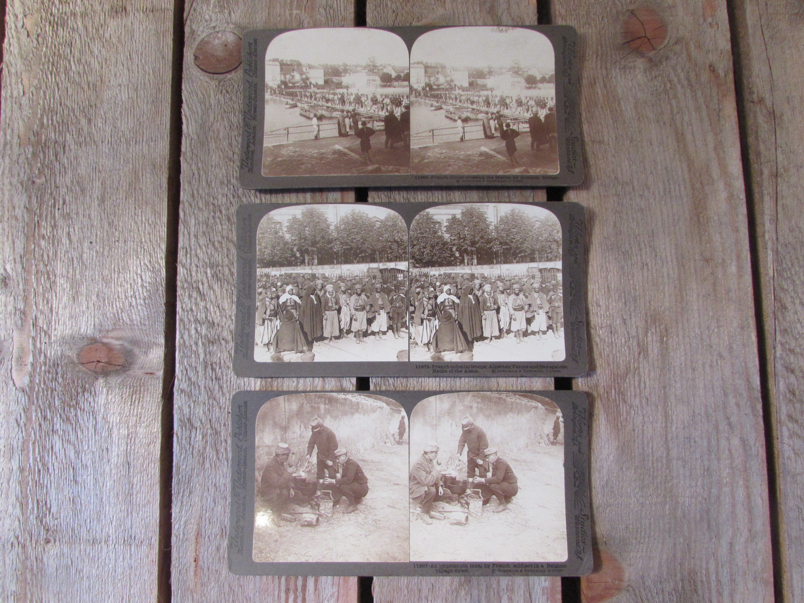 3x Stereoscope card images