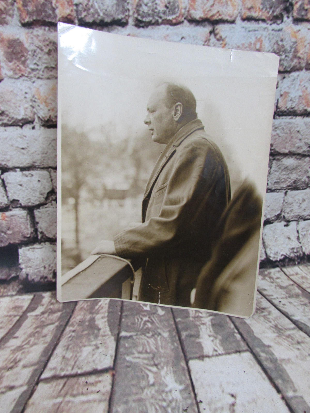 Original photo of Winston Churchill (sepia) taken during the early 1930s